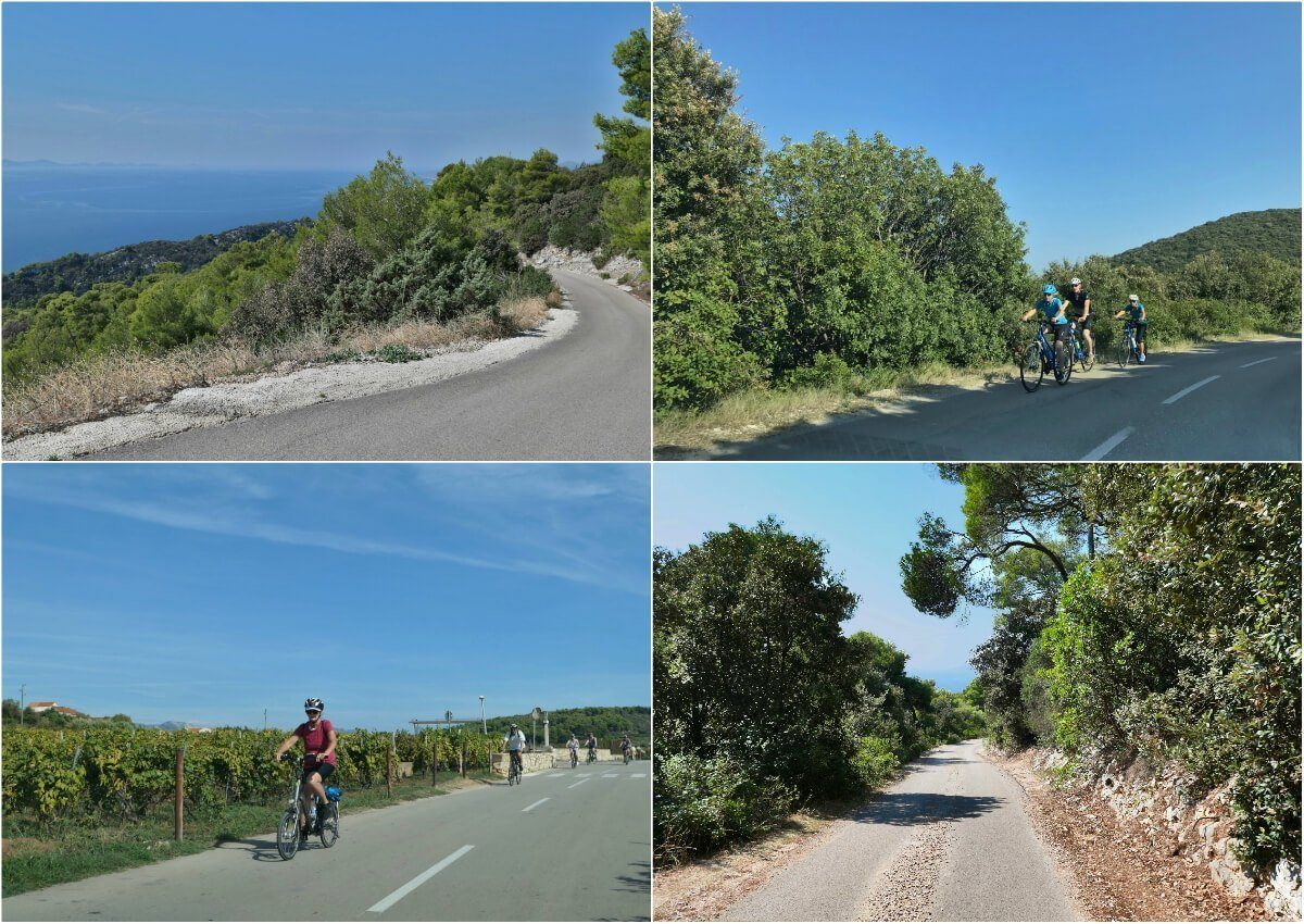 Cycling, Korčula, Croatia