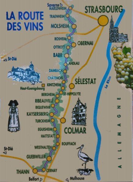 La Route des Vins, Alsace, France