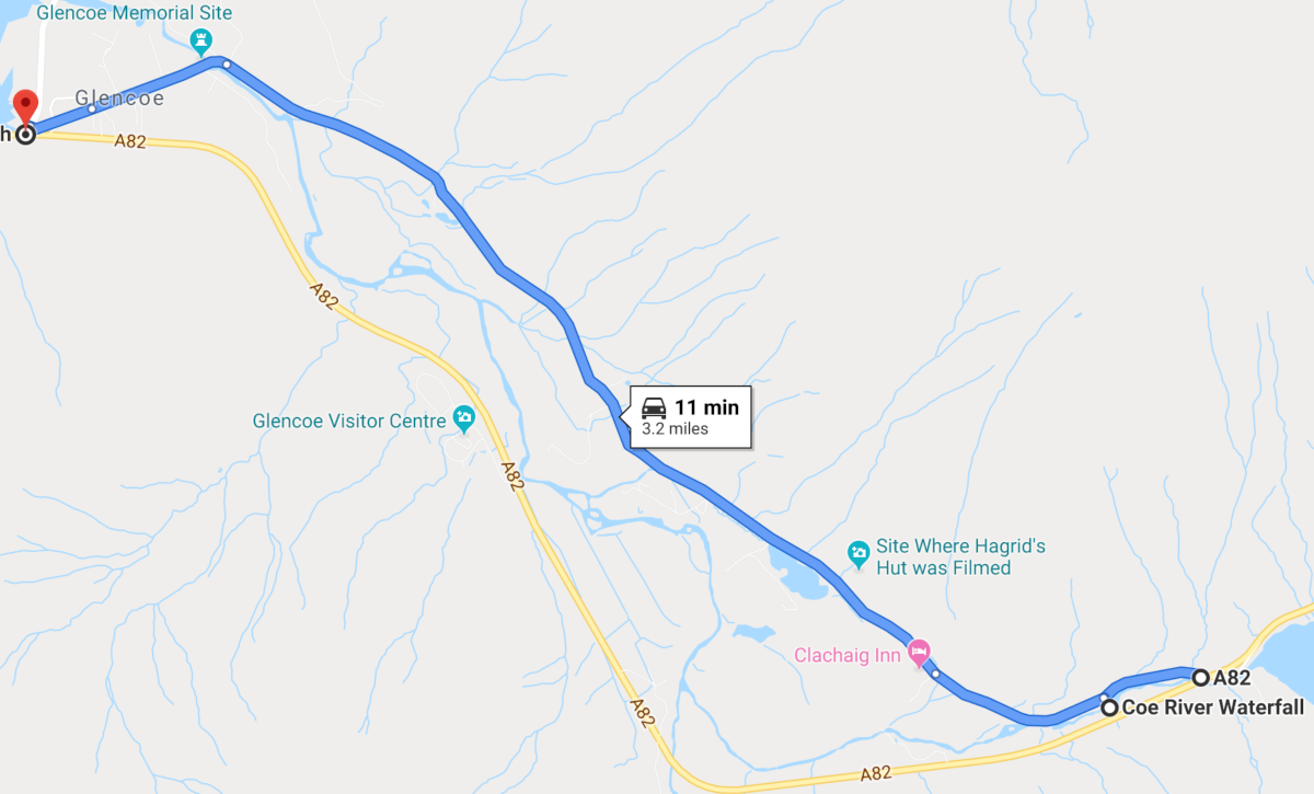 Map Glencoe