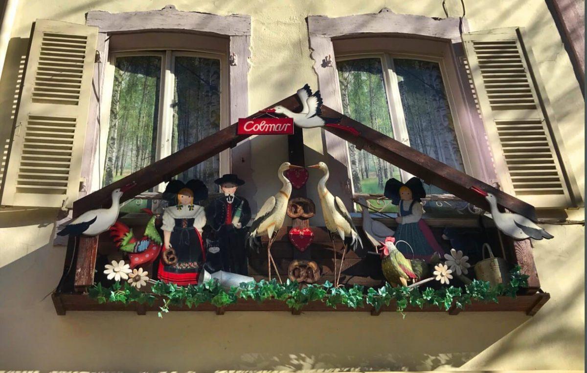 Stork, Colmar, Alsace, France