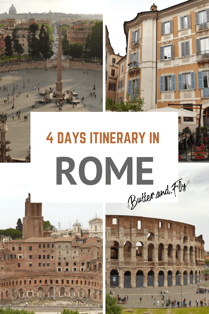 4 days itinerary Rome