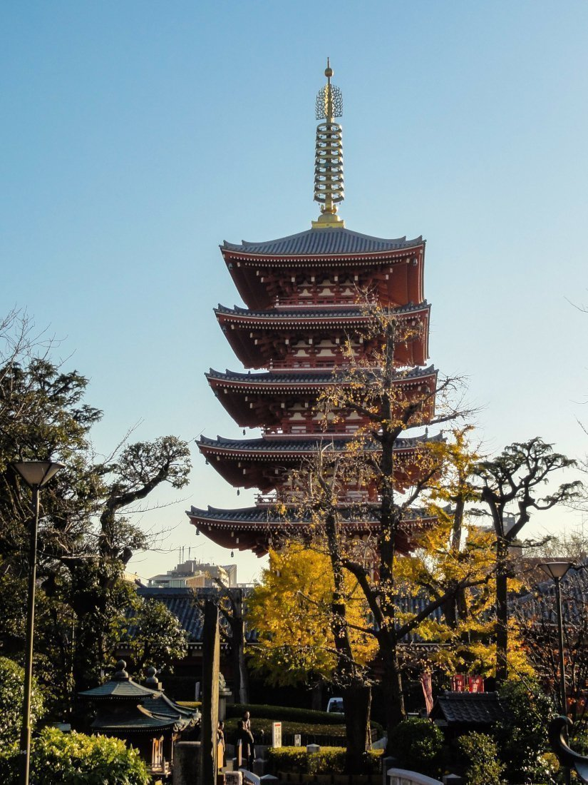 Asakusa Five-storied Pagoda, Tokyo, Japan