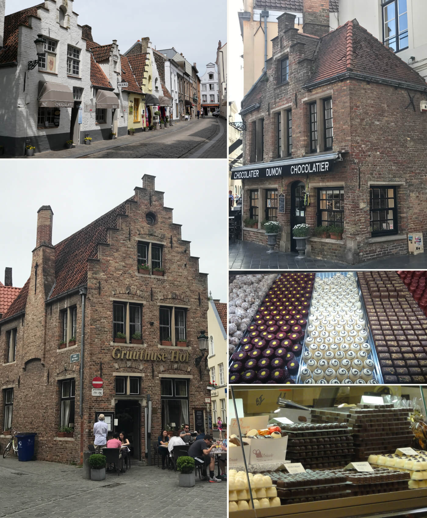 Restaurant and chocolatier Bruges, Belgium
