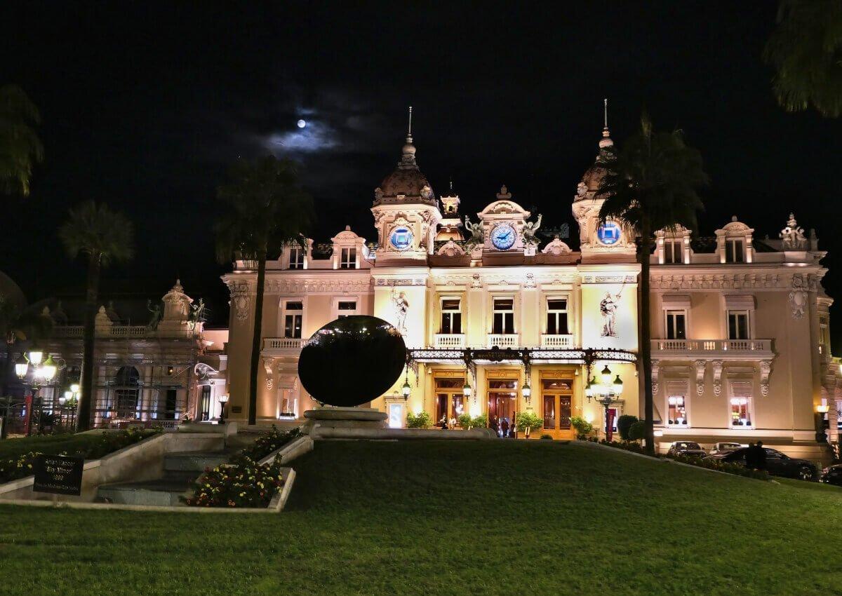Casino Monte Carlo at night