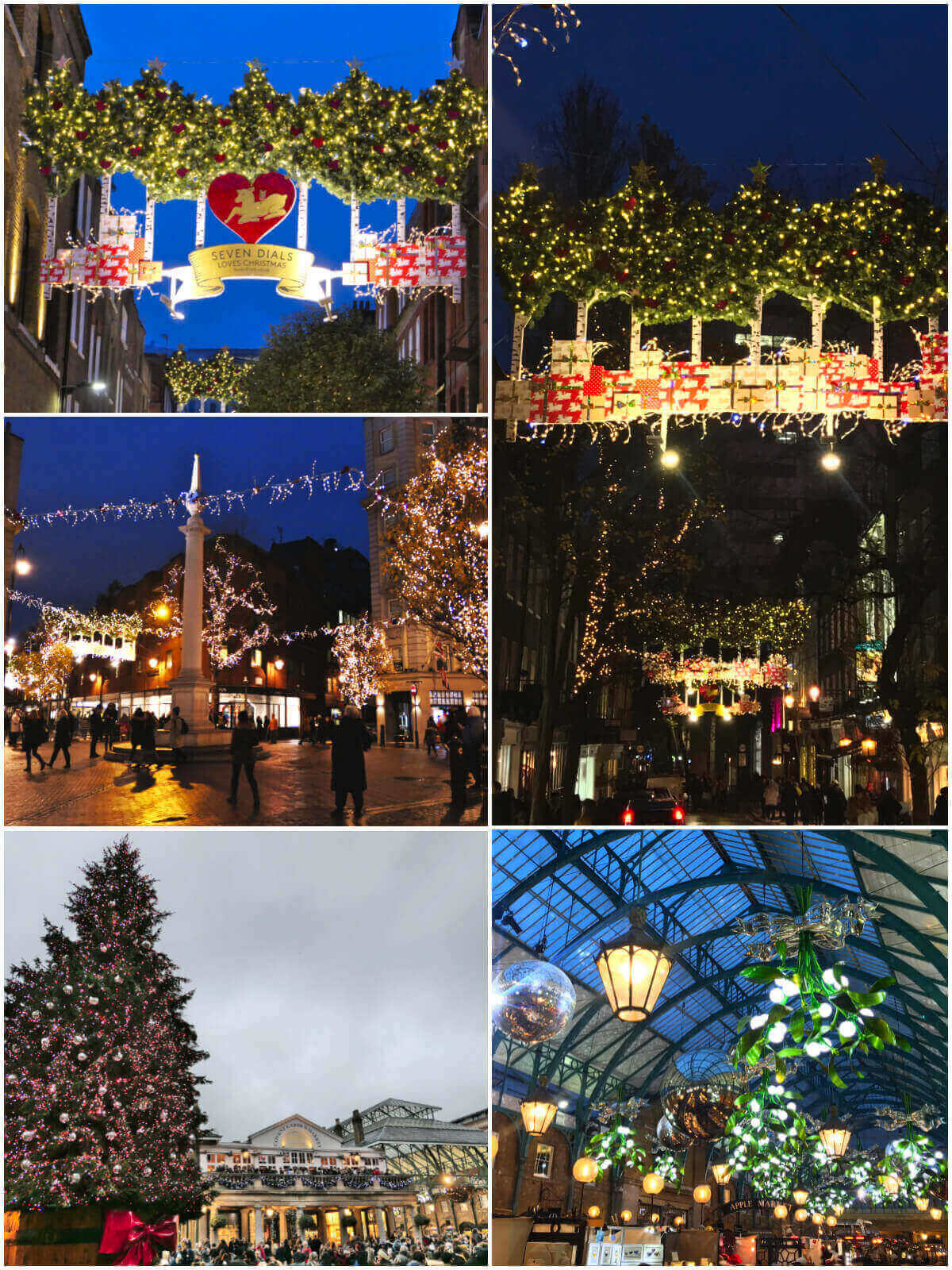 Christmas in Covent Garden, London