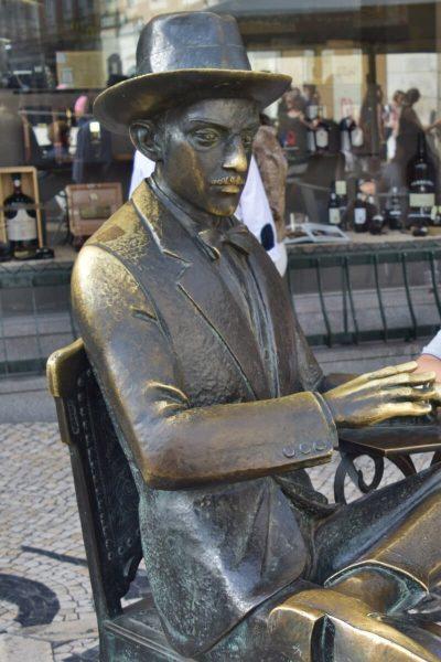 Fernando Pessoa Statue, Lisbon, Portugal