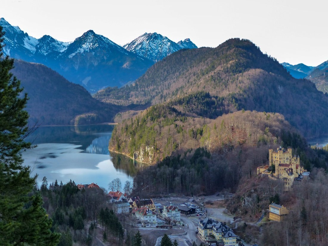 Hohenschwangau Schloss and village, Germany