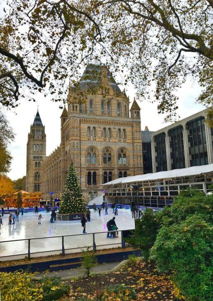 Ice-rink at Natural History Museum, London