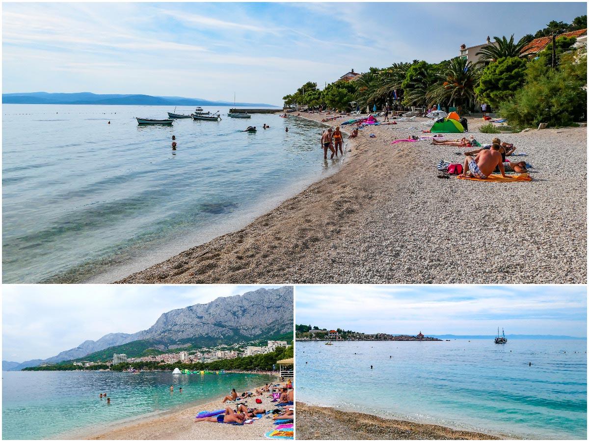 Praia na cidade de Makarska