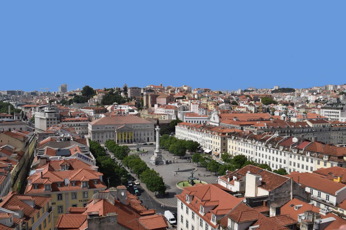 Praça Dom Pedro IV, Lisbon, Portugal