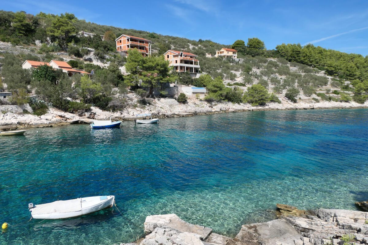 West beaches in Korčula, Prapatna, Croatia