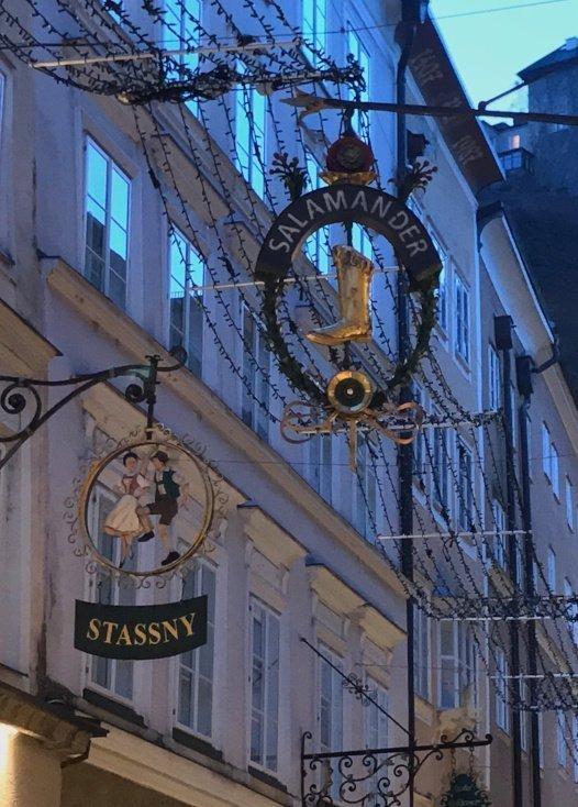 Store's sign, Salzburg, Austria