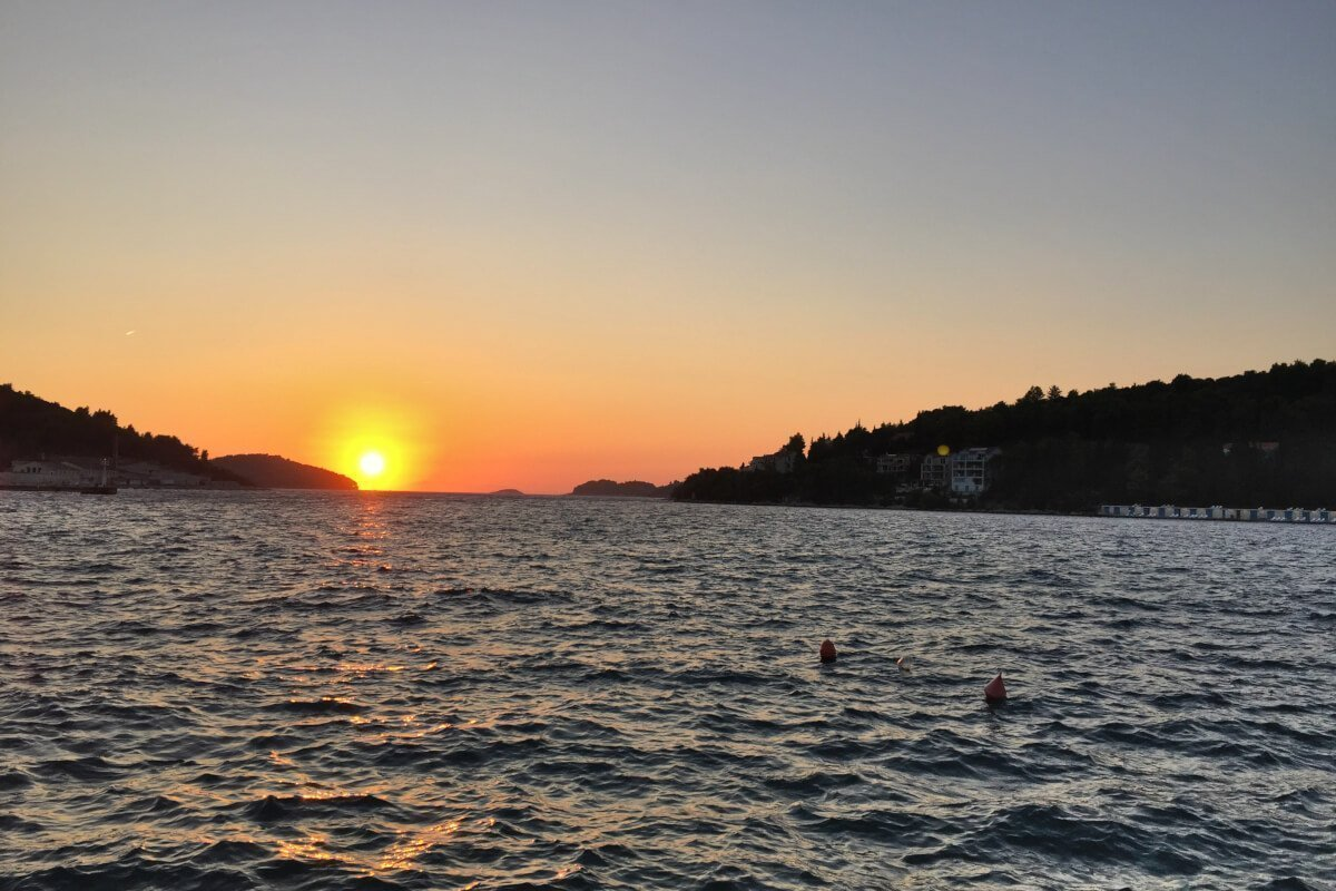 Sunset Vela Luka, Korčula, Croatia