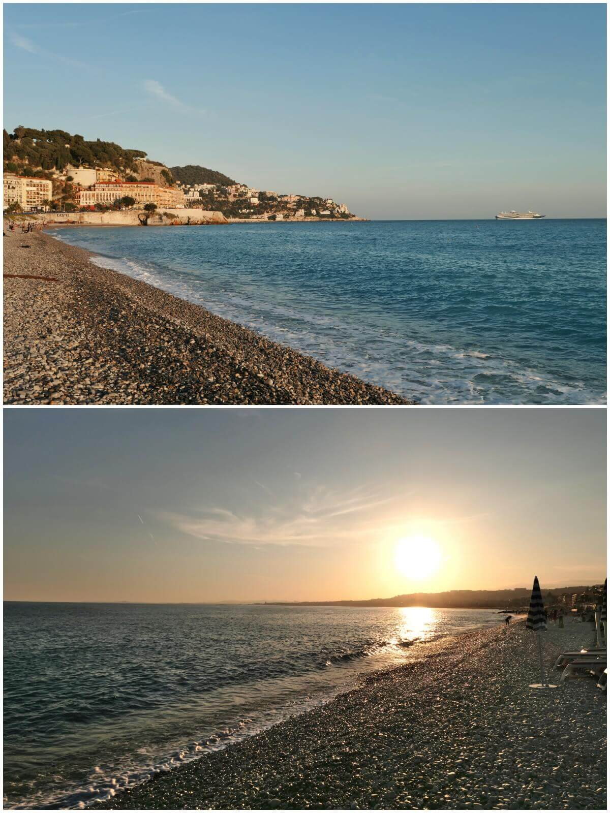 Sunset in Nice, French Riviera