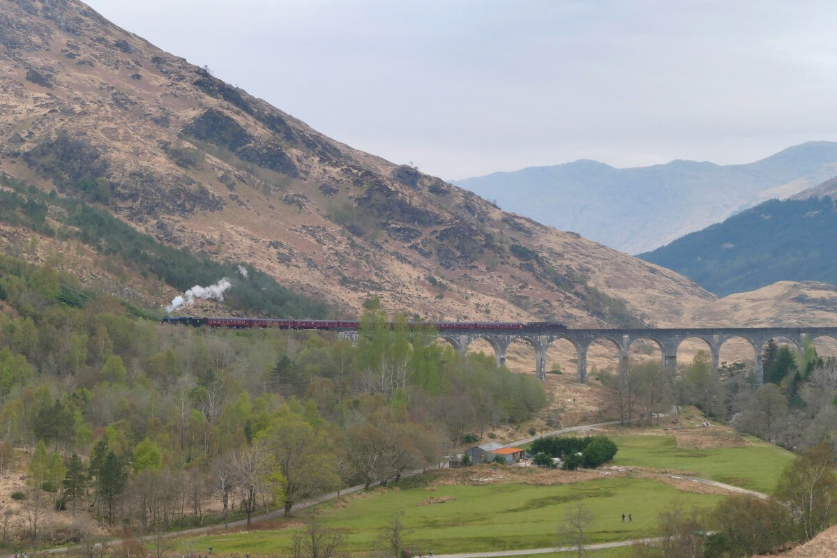 The Jacobite Steam Train, Harry Potter, Glenfinnan, Scotland 1