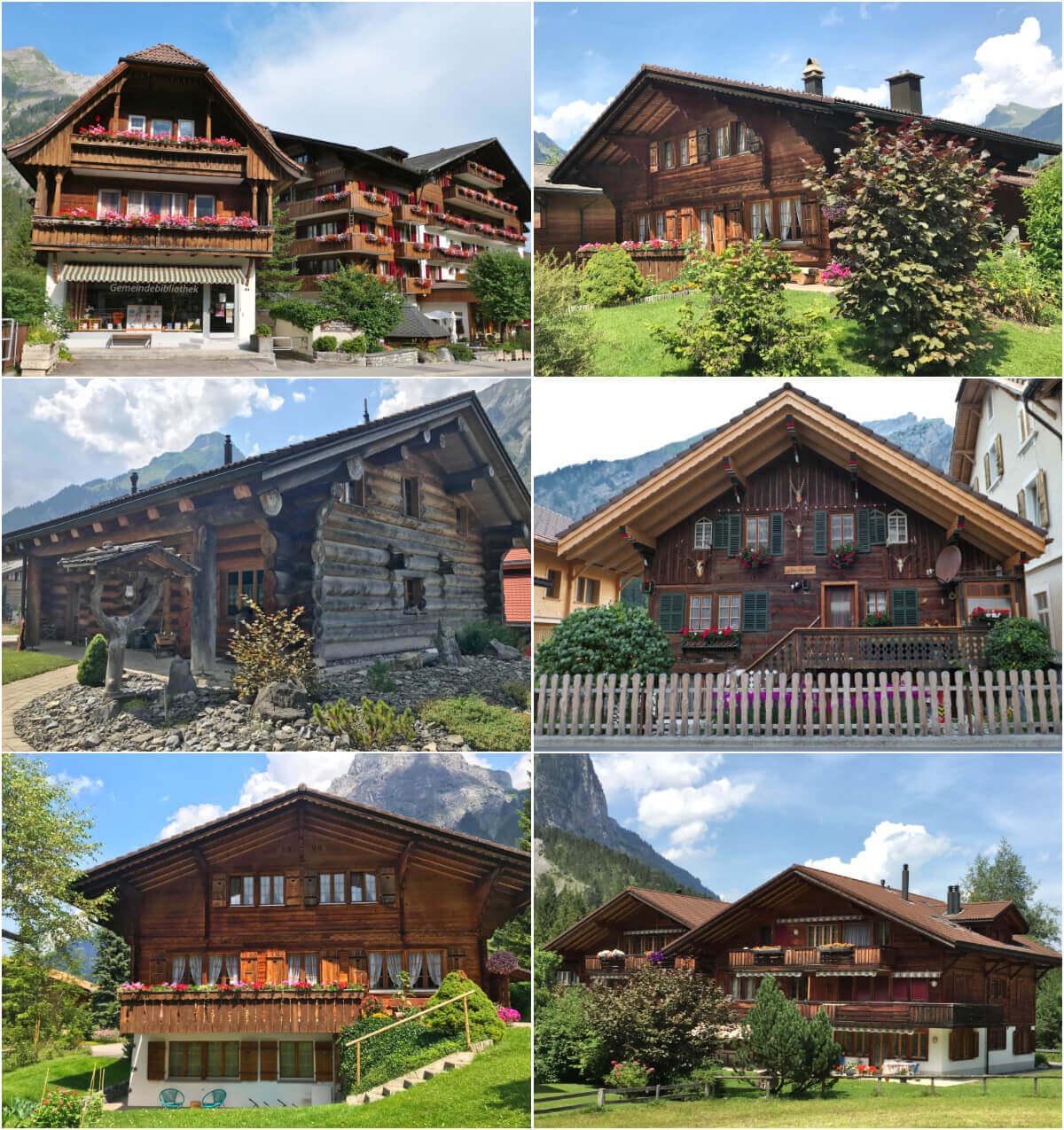 Traditional swiss houses, Kandersteg, Switzerland