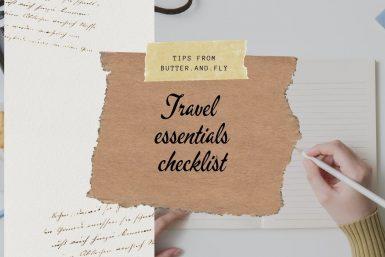 Travel essential checklist