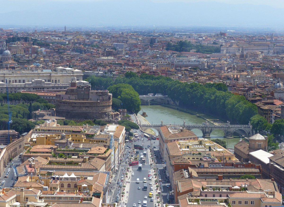 Views from St. Peter's Basilica, Vatican