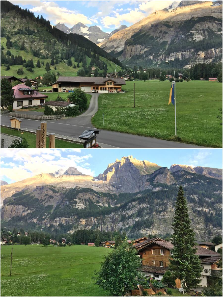 Views from our hotel, Kandersteg, Switzerland