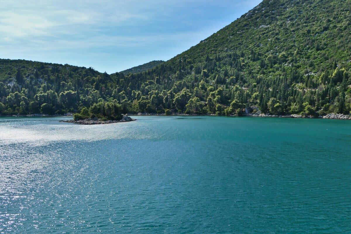 Vista do ferry, Croácia