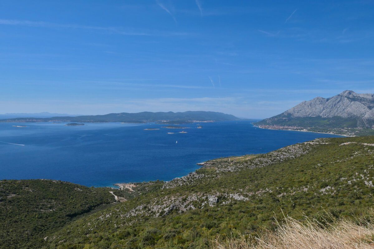 Views to Orebić, Croatia