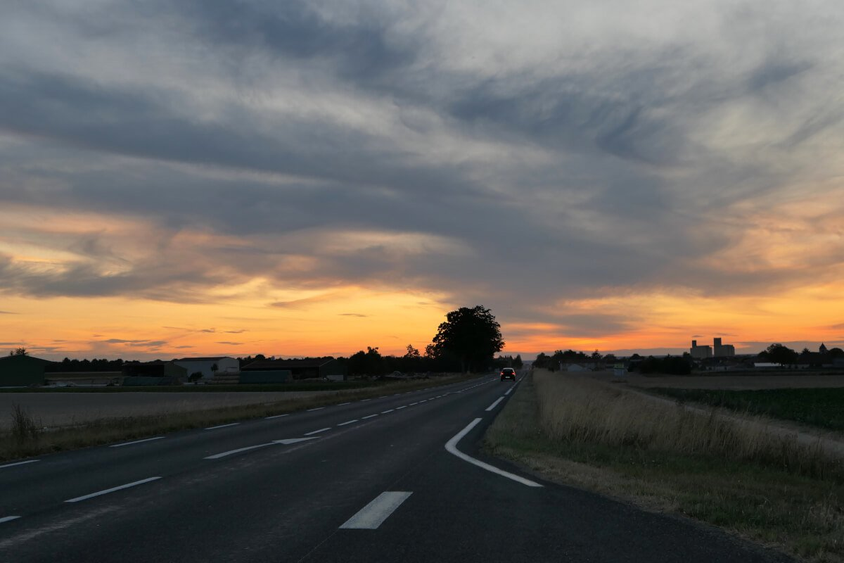 Way to Épernay, France