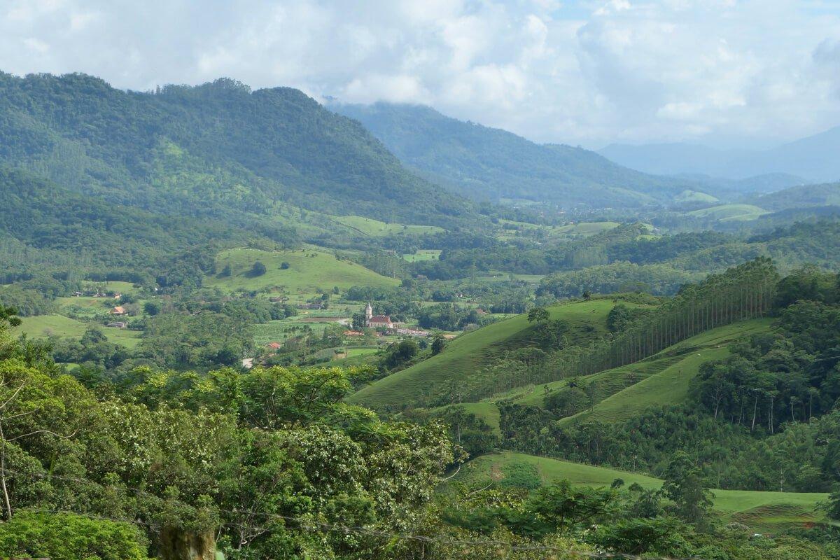 Way to Half-timbered Route, Pomerode, Santa Catarina, Brazil