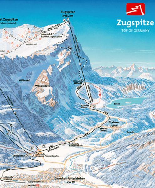 Zugspitze Map
